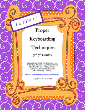 Proper Keyboarding Techniques Rubric