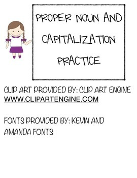 Proper Noun and Capitalization Practice