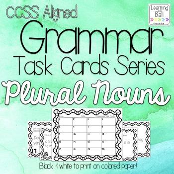 Plural Nouns (Regular & Irregular) Task Cards - for Roam t