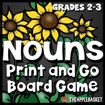 Proper Nouns and Common Nouns Print and Go Board Game for