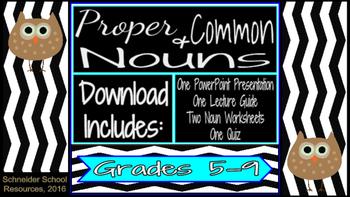 Proper and Common Nouns Lesson Bundle