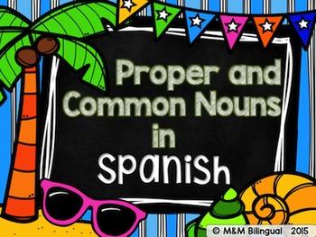 Proper and Common Nouns {Spanish}
