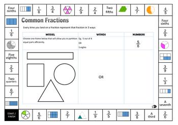 Proper fraction game