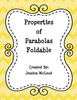 Properites of a Parabola Foldable