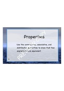 Properties Flipchart  - Great for Common Core