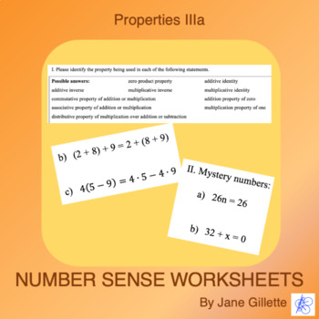 Properties IIIa: Commutative, Associative, Distributive, I