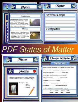 Properties and Changes in States of Matter Science 49 Page