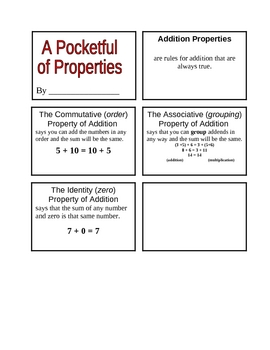 Properties of Addition Booklet