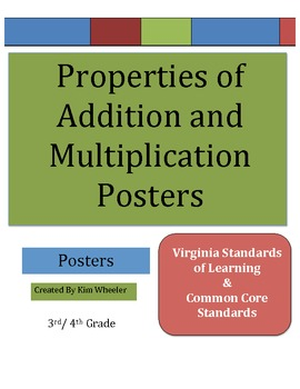 Commutative & Identity Properties of Addition & Multiplica