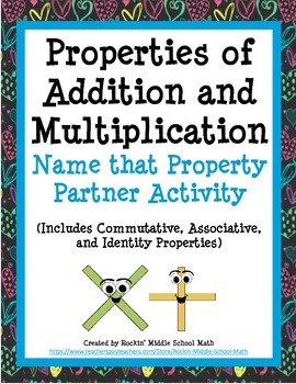 Properties of Addition and Multiplication Partner Practice