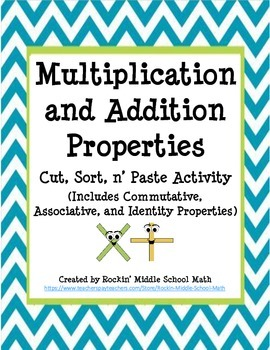Properties of Addition and Multiplication -  Sorting Activ