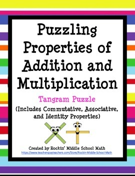 Properties of Addition and Multiplication - Tangram Puzzle