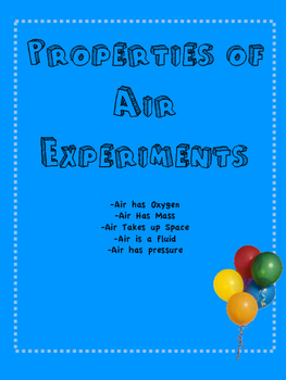 Properties of Air Experiment Bundle