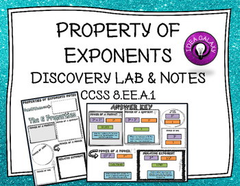 Properties of Exponents Discovery Lab and Notes for Intera