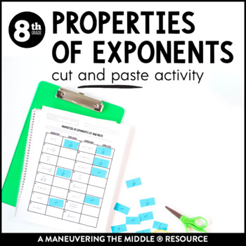 Properties of Exponents Cut and Paste
