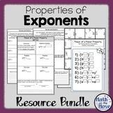 Exponents - Bundle - Interactive Notes and Activities