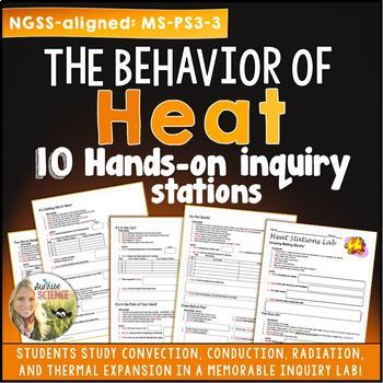 Properties of Heat Hands On Inquiry Stations {editable}