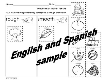 Properties of Matter Activities Pack Engl and Spanish Csco