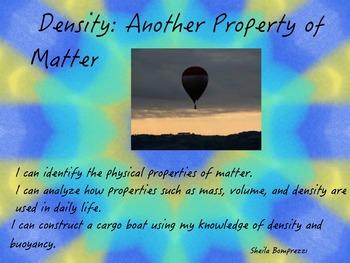 Properties of Matter- Density and Buoyancy Flipchart
