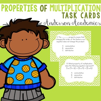 Properties of Multiplication Task Cards {3.OA.5}