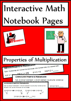 Properties of Multiplication Lesson for Interactive Math N