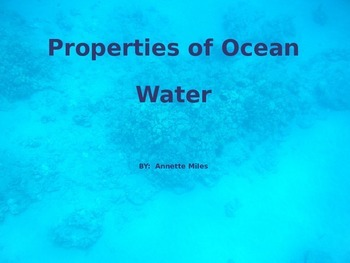 Properties of Ocean Water PowerPoint