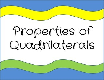 Properties of Quadrilaterals Signs