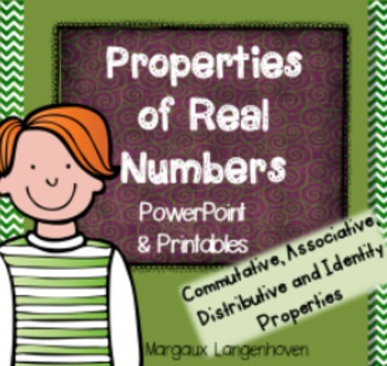 Properties of Real Numbers PowerPoint (Commutative, associ