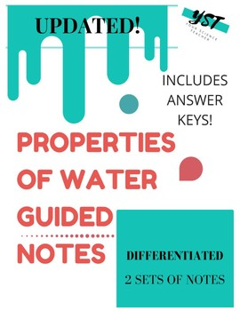 Properties of Water Notepage