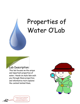 Properties of Water O'Lab