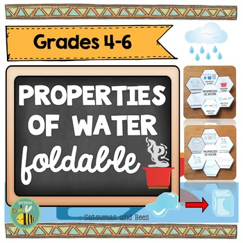 Properties of water-Interactive Science Notebook foldable