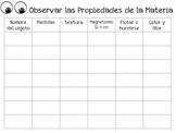 Propiedad de la Materia/ Property of Matter Spanish