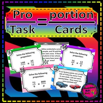 Proportion Task Card Set- Great unit or STAAR Review