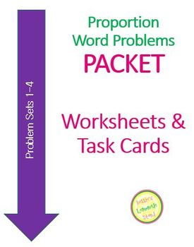 Proportion Word Problems PACKET - Sets 1-4