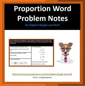 Proportion Word Problems Scaffold Notes