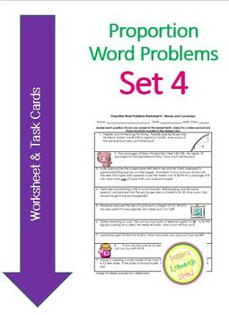 Proportion Word Problems Set 4 - D = RxT and $ Conversn Wo