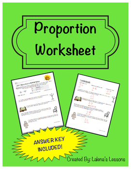 Proportion Worksheet