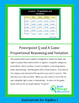 Algebra I Powerpoint Q and A Game - Proportional Reasoning