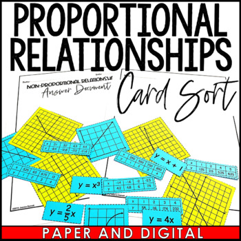 Proportional Relationships Matching Activity