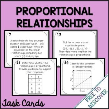 Proportional Relationships Task Cards