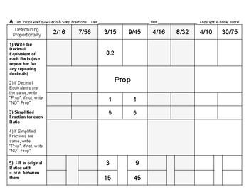Proportions 01: Determine Proportionality via Decimal Equi