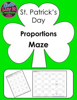 St. Patrick's Day Proportions Maze