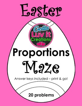 Easter Spring Proportions Maze