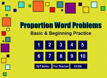 Ratios & Rates (proportions) Basic Practice SmartBoard 6th CCSS
