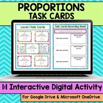 Proportions Digital Task Cards