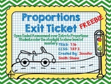 FREEBIE Proportions Exit Ticket