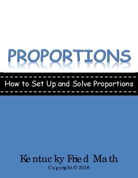 Proportions Foldable for IAN - How to Set Up and Solve Pro
