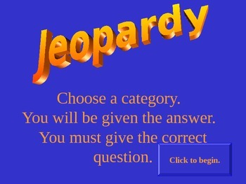 Direct Proportions Jeopardy Review