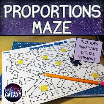 Proportions Maze Activity