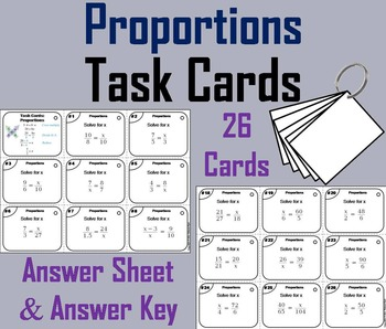 Solving Proportions Task Cards/ Solving Proportions Practi